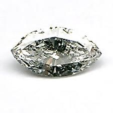 0,12Ct-I2-DIAMANTE BLANCO C/BLACKSPOTS MARQUISE 4,5x2,6 mm.